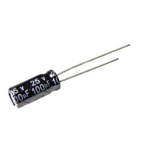 100uF 25V 5x11mm Radial Electrolytic Capacitors