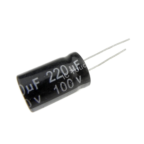 220uF 100V 13x20mm Radial Electrolytic Capacitors