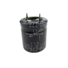 220uF 250V 22x25mm Radial Electrolytic Capacitors SNAP IN CAP