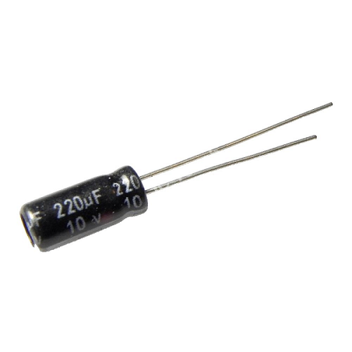 220uF 10V 5x11mm Radial Electrolytic Capacitors