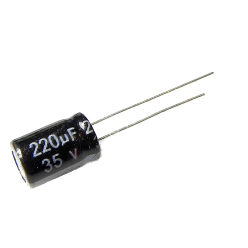 220uF 35V 8x12mm Radial Electrolytic Capacitors