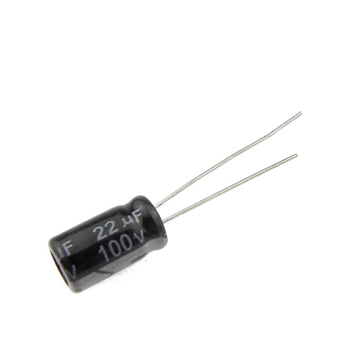 22uF 100V 6x11mm Radial Electrolytic Capacitors
