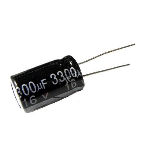 3300uF 16V 13x20mm Radial Electrolytic Capacitors