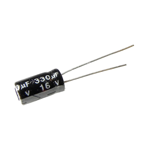 330uF 16V 6x11mm Radial Electrolytic Capacitors