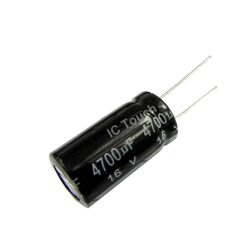 4700uF 16V 13x25mm Radial Electrolytic Capacitors