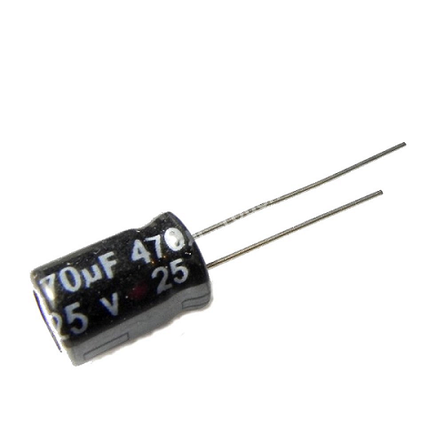 470uF 25V 8x12mm Radial Electrolytic Capacitors