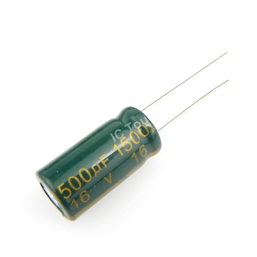 1500uF 16V 10x20mm Electrolytic Radial High Frequency Capacitor LOW ESR