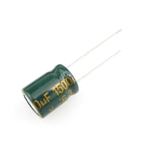 1500uF 6.3V 10x13mm Electrolytic Radial High Frequency Capacitor LOW ESR