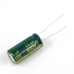 15uF 400V 10x21mm Electrolytic Radial High Frequency Capacitor LOW ESR