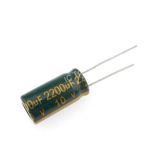 2200uF 10V 10x20mm Electrolytic Radial High Frequency Capacitor LOW ESR