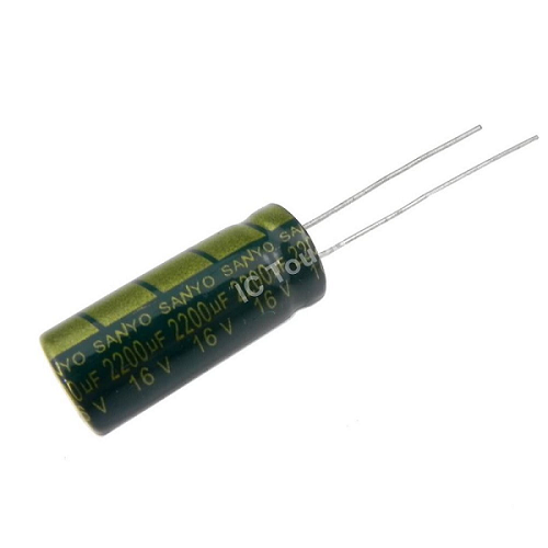 2200uF 16V 10x25mm Electrolytic Radial High Frequency Capacitor LOW ESR