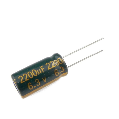 2200uF 6.3V 10x20mm Electrolytic Radial High Frequency Capacitor LOW ESR