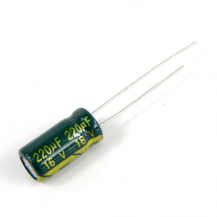 220uF 16V 6.3x12mm Electrolytic Radial High Frequency Capacitor LOW ESR