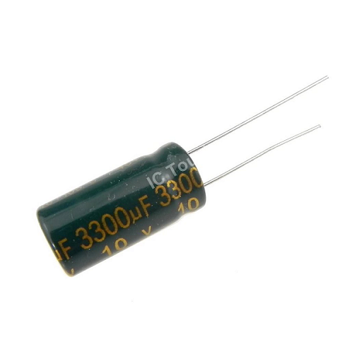 3300uF 10V 10x20mm Electrolytic Radial High Frequency Capacitor LOW ESR