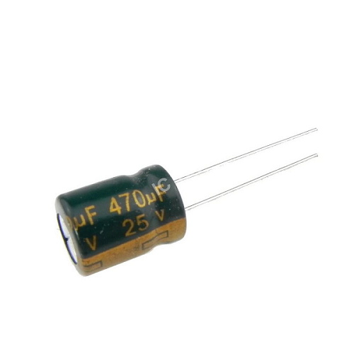 470uF 25V 10x13mm Electrolytic Radial High Frequency Capacitor LOW ESR