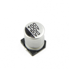100uF 50V 8x10mm SMD Aluminum Electrolytic Capacitors