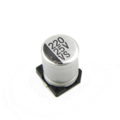 220uF 25V 8x10mm SMD Aluminum Electrolytic Capacitors