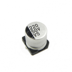 220uF 50V 10x10mm SMD Aluminum Electrolytic Capacitors