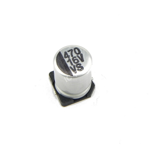 470uF 16V 8x10mm SMD Aluminum Electrolytic Capacitors