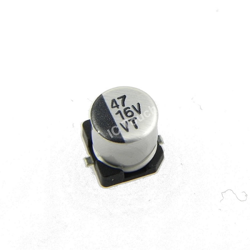 47uF 16V 5x5mm SMD Aluminum Electrolytic Capacitors