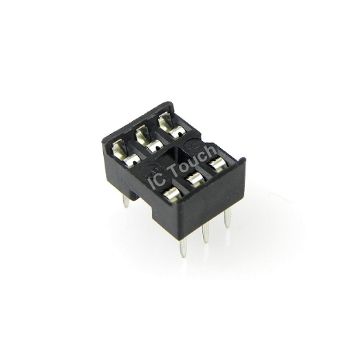 6-Pin DIP IC Sockets Adaptor General Type Socket PCB 2.54mm Pitch