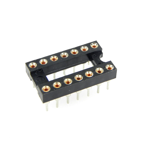 14-Pin DIP IC Sockets Adaptor Round Type Socket PCB 2.54mm Pitch