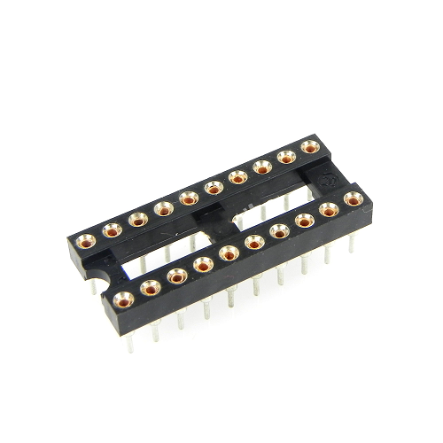 20-Pin DIP IC Sockets Adaptor Round Type Socket PCB 2.54mm Pitch