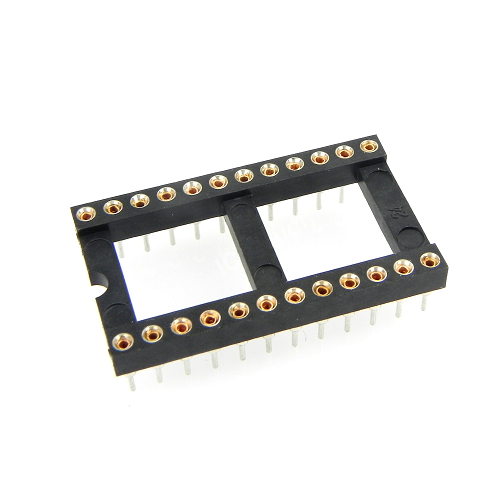24-Pin-w DIP IC Sockets Adaptor Round Type Socket PCB 2.54mm Pitch