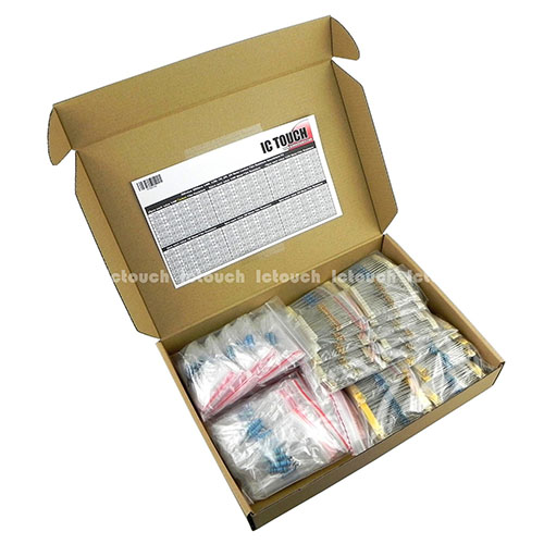 300value 1200pcs 1W, 2W, 3W Metal Film Resistor +/-1% Assortment Box Kit KIT0149