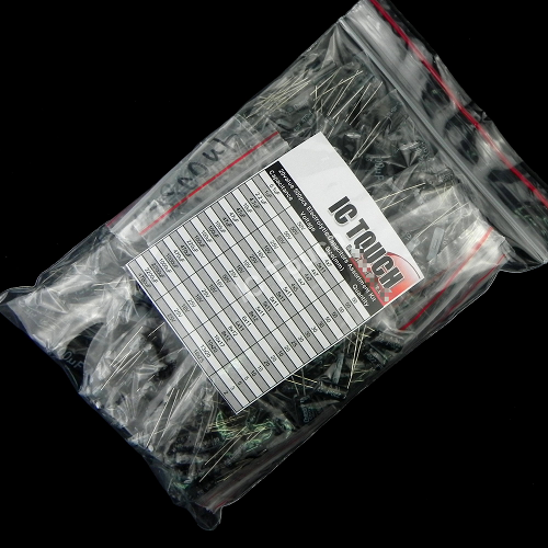 20value 500pcs Electrolytic Capacitor Assortment Kit KIT0002