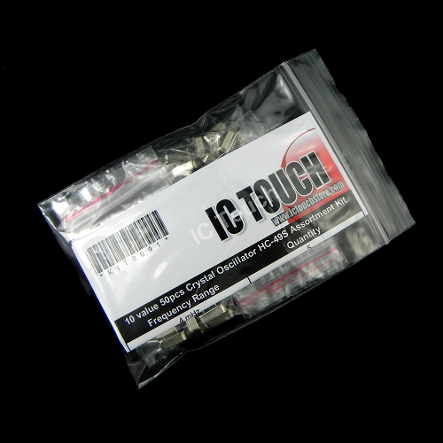 10value 50pcs Crystal Oscillator HC-49S Assortment Kit KIT0091