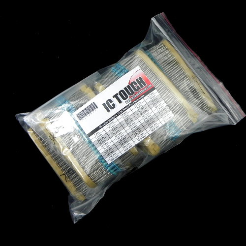 50value 2000pcs 1/2W Metal Film Resistor Assortment Kit KIT0077