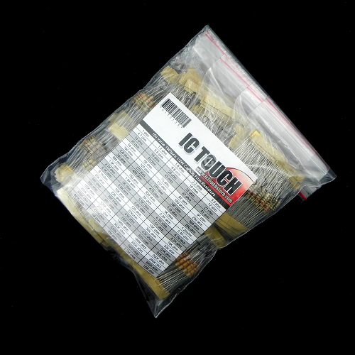 100value 1000pcs 1/2W Carbon Film Resistor Assortment Kit KIT0126