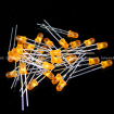 3mm Orange Round Diffused Orange LED Light Lamp