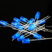 5mm Blue Round Diffused Blue LED Light Lamp