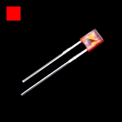 2x3x4mm Red Rectangle Diffused Red LED Light Lamp