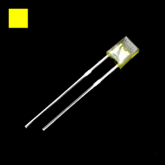 2x3x4mm Yellow Rectangle Diffused Yellow LED Light Lamp