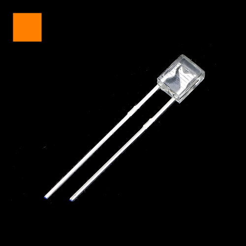 2x3x4mm Orange Rectangle Waterclean Orange LED Light Lamp
