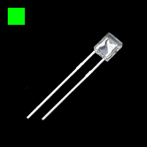 2x3x4mm Green Rectangle Waterclean Green LED Light Lamp