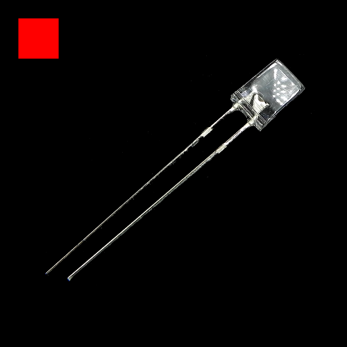 2x5x7mm Red Rectangle Waterclean Red LED Light Lamp