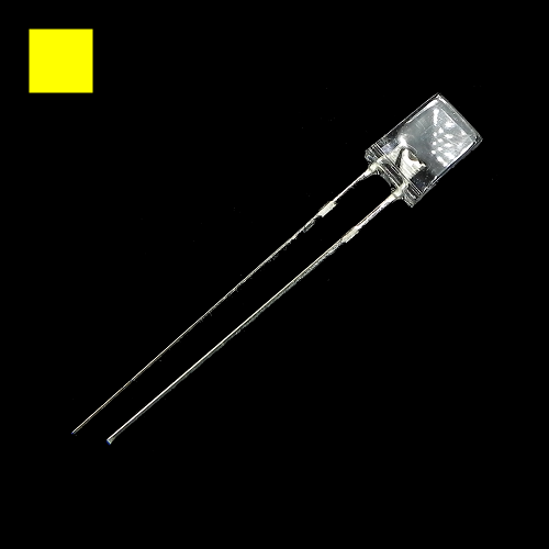 2x5x7mm Yellow Rectangle Waterclean Yellow LED Light Lamp