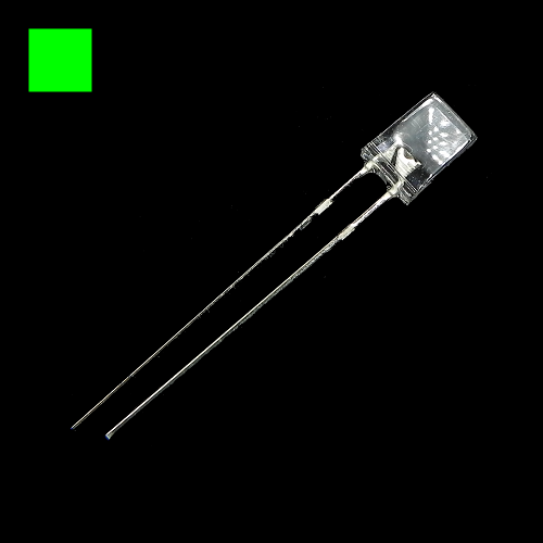 2x5x7mm Green Rectangle Waterclean Green LED Light Lamp