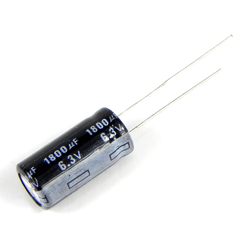 1800uF 6.3V 8x16mm Radial Electrolytic Capacitors