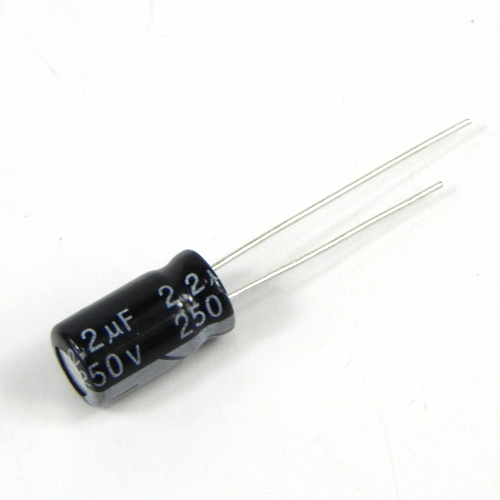 2.2uF 250V 6.3x12mm Radial Electrolytic Capacitors