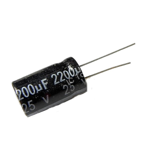 2200uF 25V 13x20mm Radial Electrolytic Capacitors