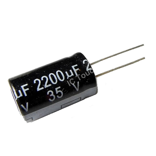 2200uF 35V 16x25mm Radial Electrolytic Capacitors