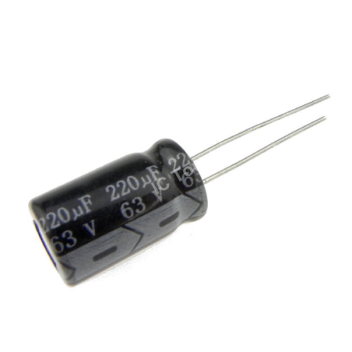 220uF 63V 10x17mm Radial Electrolytic Capacitors