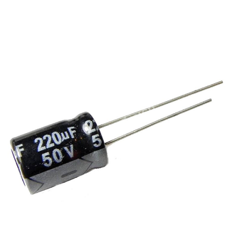 220uF 50V 10x13mm Radial Electrolytic Capacitors