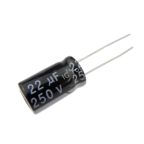 22uF 250V 10x17mm Radial Electrolytic Capacitors