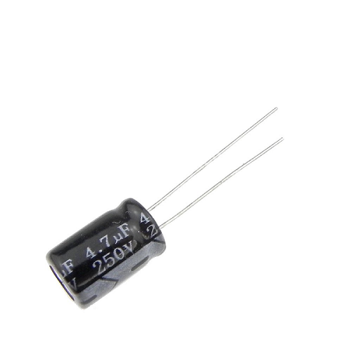 4.7uF 250V 8x12mm Radial Electrolytic Capacitors